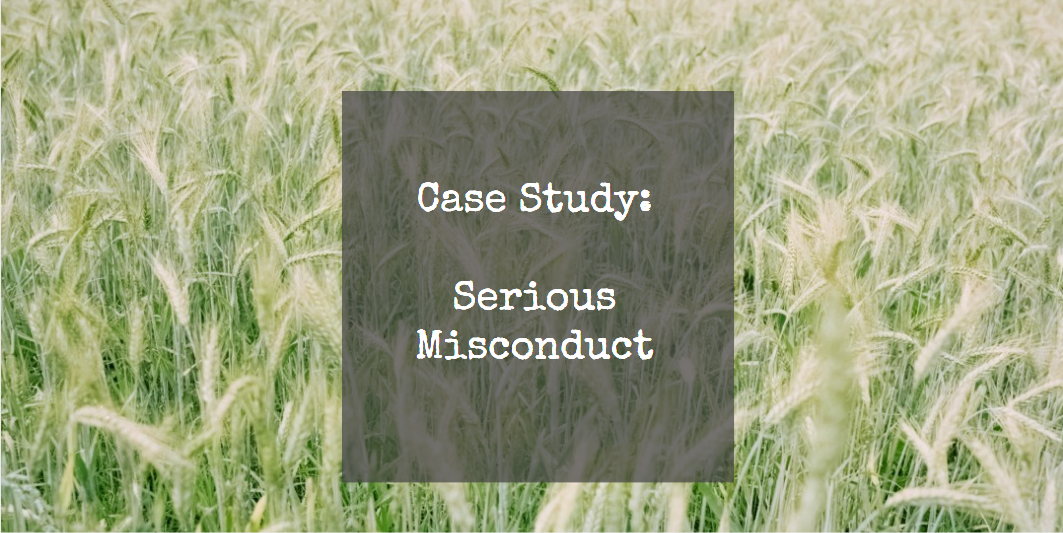 POD HR Forum:  Serious Misconduct – Dealing with theft / fraud (Case One)