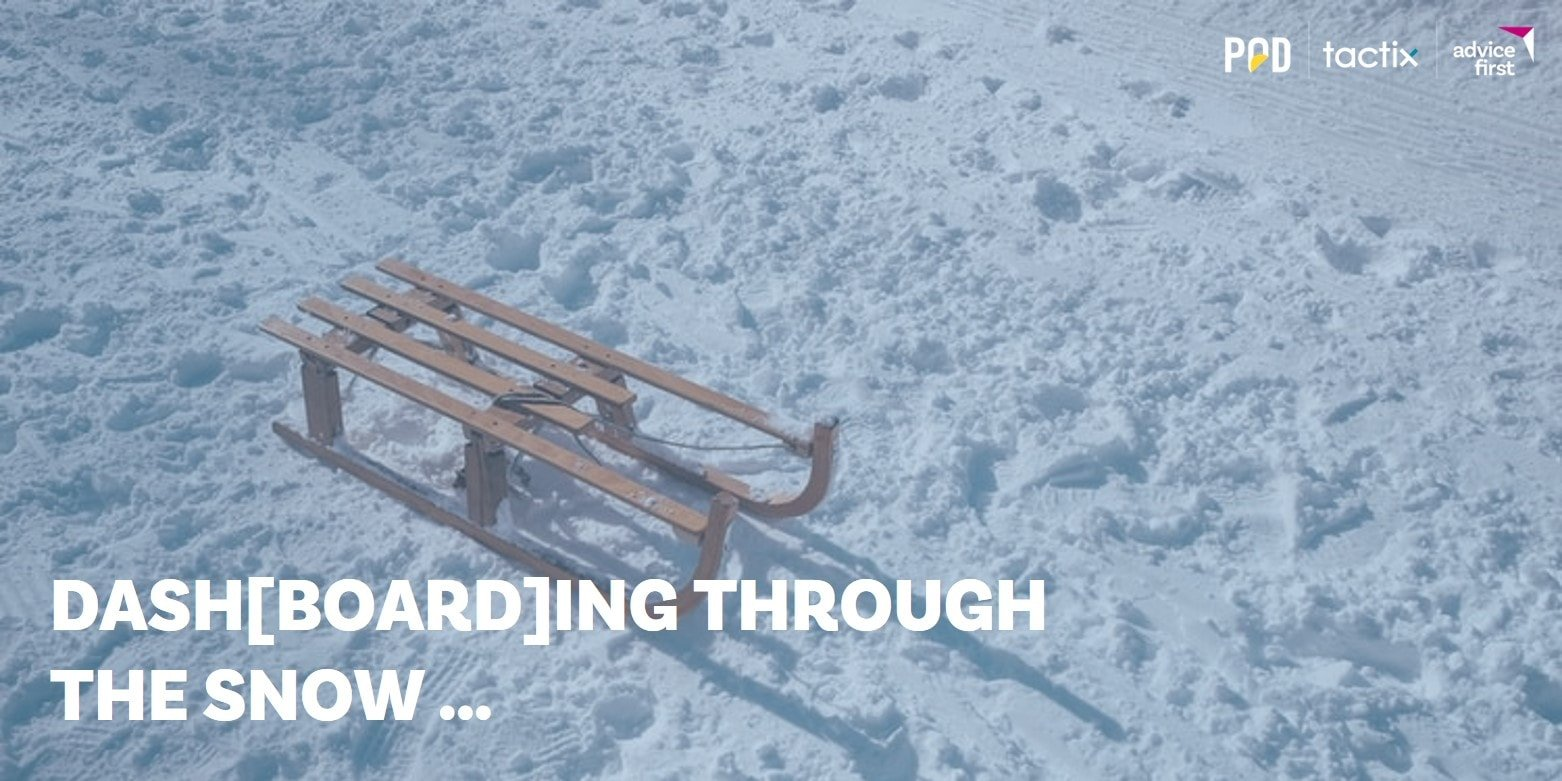 Business Dashboard1 min - Dash[board]ing through the snow …  on POD | AdviceFirst's business growth sleigh