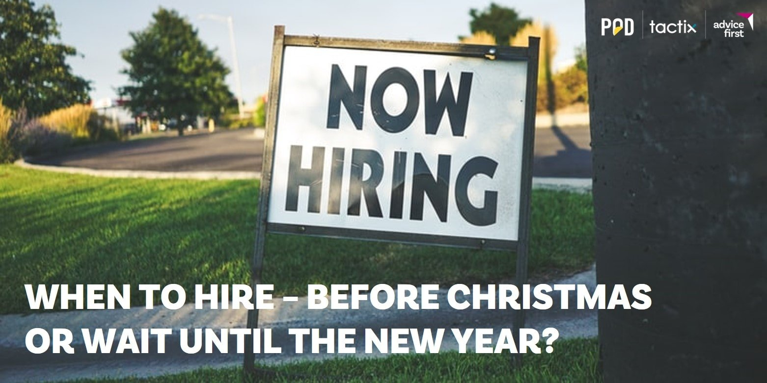 Christmas Recruitment1 min - When to hire – before Christmas or wait until the New Year?